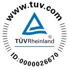 TÜV certifikát 0000026670